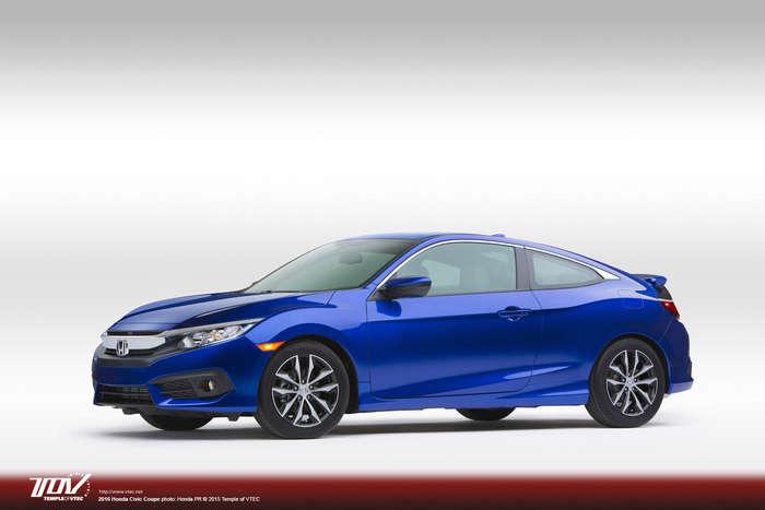 Honda Civic Coupé 2016, première apparition publique.
