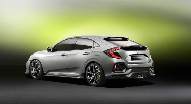 Dévoilement nord-américain du prototype de la Honda Civic à hayon «hatchback»
