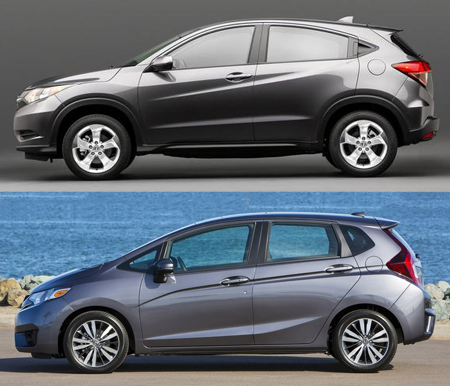 Honda Fit ou Honda HR-V?