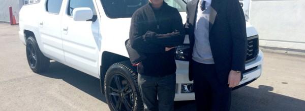 Livraison M. Richard Spénard – Honda Ridgeline 2014 édition spéciale
