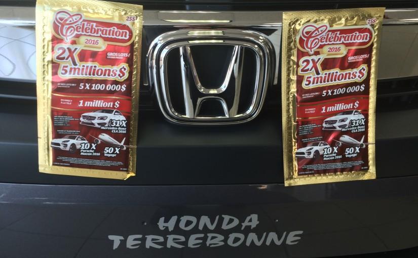 Honda De Terrebonne >> Concours: Billets de loterie sur Facebook Celebration 2016 – Honda de Terrebonne – Blogue ...